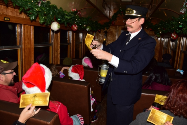 Durango train Polar Express conductor